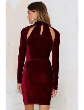 Oh My Love Great Pretender Velvet Cutout Dress by Nasty Gal