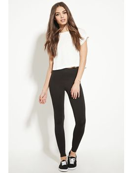 heathered-knit-leggings by forever-21