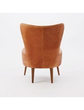 Erik Leather Wing Chair By West Elm