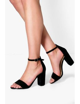 lois-two-part-block-heels by boohoo