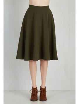 bugle-joy-midi-skirt-in-olive by modcloth