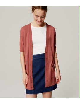 Shoptagr | Short Sleeve Long Cardigan by Loft