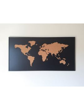 Shoptagr cork board world map black by one fancy chimney cork board world map black by onefancychimney gumiabroncs Gallery