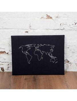Shoptagr | World Map Notice Board Cork World Map World Map Pin Board ...