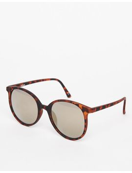 asos-round-oversized-sunglasses-in-fine-frame-with-flash-lens by asos-collection