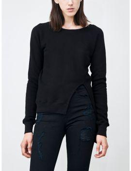 Split Front Pullover Black by Oak