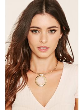 faux-gem-collar-necklace by forever-21
