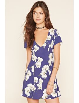 0ee62aed05 floral-print-v-neck-dress by forever-21