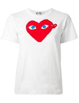 heart-print-t-shirt by comme-des-garçons-play