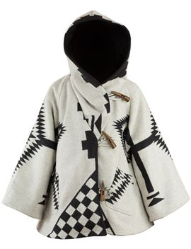 White Los Ojos Trench Cloak by Lindsey Thornburg