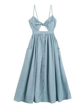 Slate Tie Front Dress by Mara Hoffman