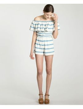 Novelty Stripe Paper Back Short by Mara Hoffman