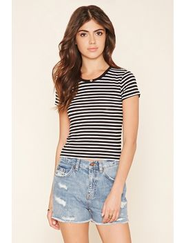 striped-knit-tee by forever-21