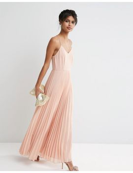 asos-woven-cami-maxi-dress-with-pleated-skirt by asos-collection