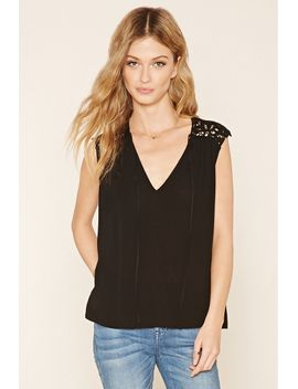 contemporary-crochet-gauze-top by forever-21