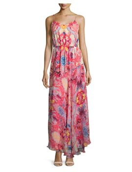 The Love Her Madly Silk Paisley Maxi Dress, Pink by Haute Hippie