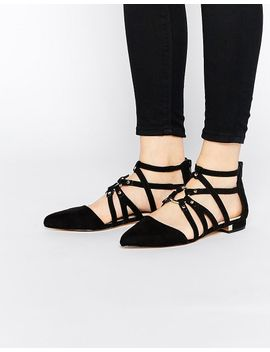 asos-lori-caged-pointed-ballet-flats by asos-collection