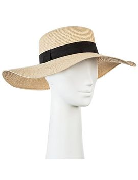 Women's Floppy Straw Flat Top Hat   Tan   Merona™ by Merona™