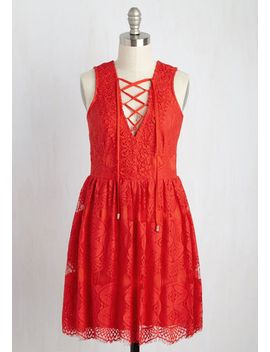 artisan-iced-tea-lace-dress-in-raspberry by modcloth