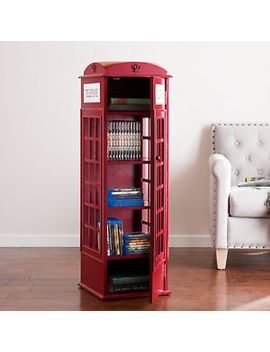 RED TELEPHONE BOOTH CABINET