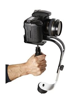 the-official-roxant-pro-video-camera-stabilizer-limited-edition-(midnight-black)-with-low-profile-handle-for-gopro,-smartphone,-canon,-nikon---or-any-camera-up-to-21-lbs---comes-with-phone-clamp by roxant