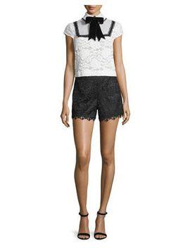 Lace Shirt & Shorts by Alice + Olivia