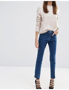 asos-castile-pencil-straight-leg-jeans-in-vintage-darkwash-blue by asos-collection