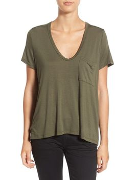 deep-v-neck-tee by ---