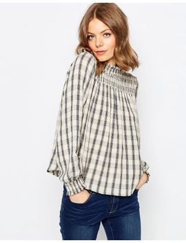 asos-check-smock-top by asos-collection