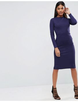 asos-bodycon-dress-with-sexy-seam-detail-in-rib by asos-collection