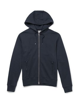 johna-cotton-blend-jersey-zip-up-hoodie by acne-studios