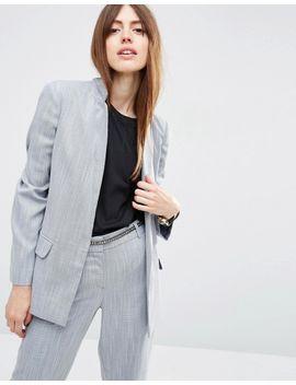 asos-premium-edge-to-edge-blazer-in-linen-look-yarn by asos-collection