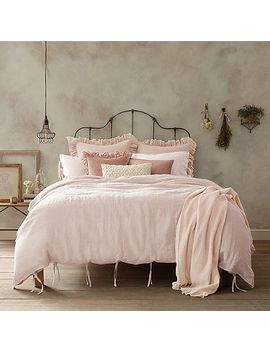 Shoptagr Wamsutta Vintage Linen Twin Duvet Cover In Blush By Bed