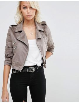 asos-faux-suede-biker-jacket by asos-collection