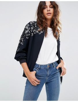 asos-embellished-trophy-bomber by asos-collection
