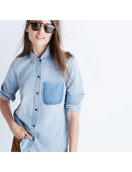 denim-shrunken-ex-boyfriend-shirt:-shadow-pocket-edition by madewell