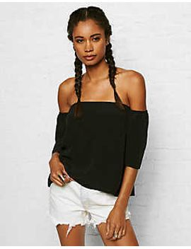 dont-ask-why-off-the-shoulder-crepe-tee by american-eagle-outfitters