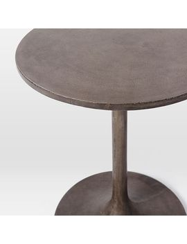 Shoptagr Concrete Pedestal Side Table By West Elm - West elm pedestal side table