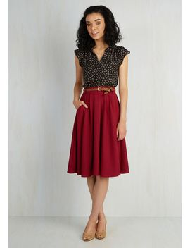 breathtaking-tiger-lilies-midi-skirt-in-merlot by modcloth