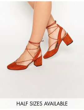 asos-serene-lace-up-heels by asos-collection