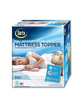 Shoptagr Serta 3 Inch Deep Pocket Gel Memory Foam Mattress Topper