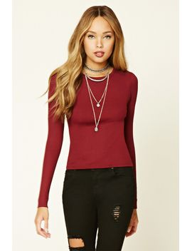 plunging-lace-up-top by forever-21