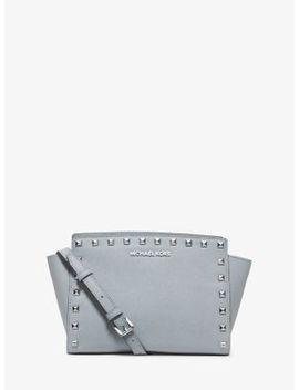 selma-medium-studded-leather-messenger by michael-michael-kors