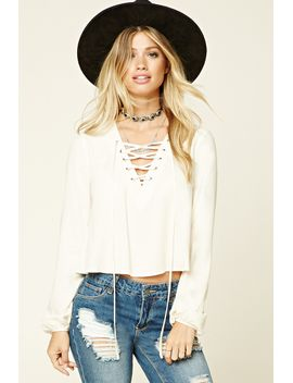lace-up-grommet-top by forever-21