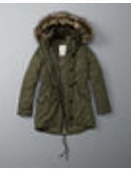 sherpa-lined-military-parka by abercrombie-&-fitch