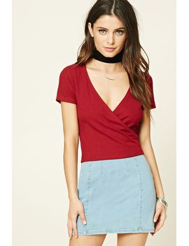 surplice-knit-top by forever-21
