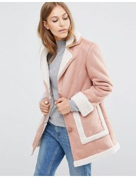 asos-vintage-style-faux-shearling-coat by asos-collection