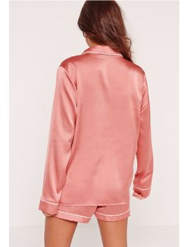pink-piping-detail-short-pyjama-set by missguided