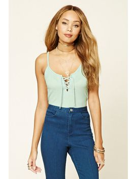 lace-up-v-neck-cami by forever-21