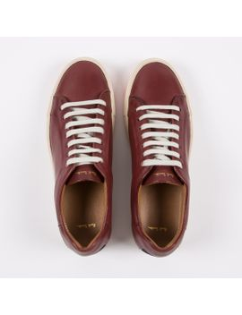 Men's Bordeaux Calf Leather 'nastro' Trainers by Paul Smith